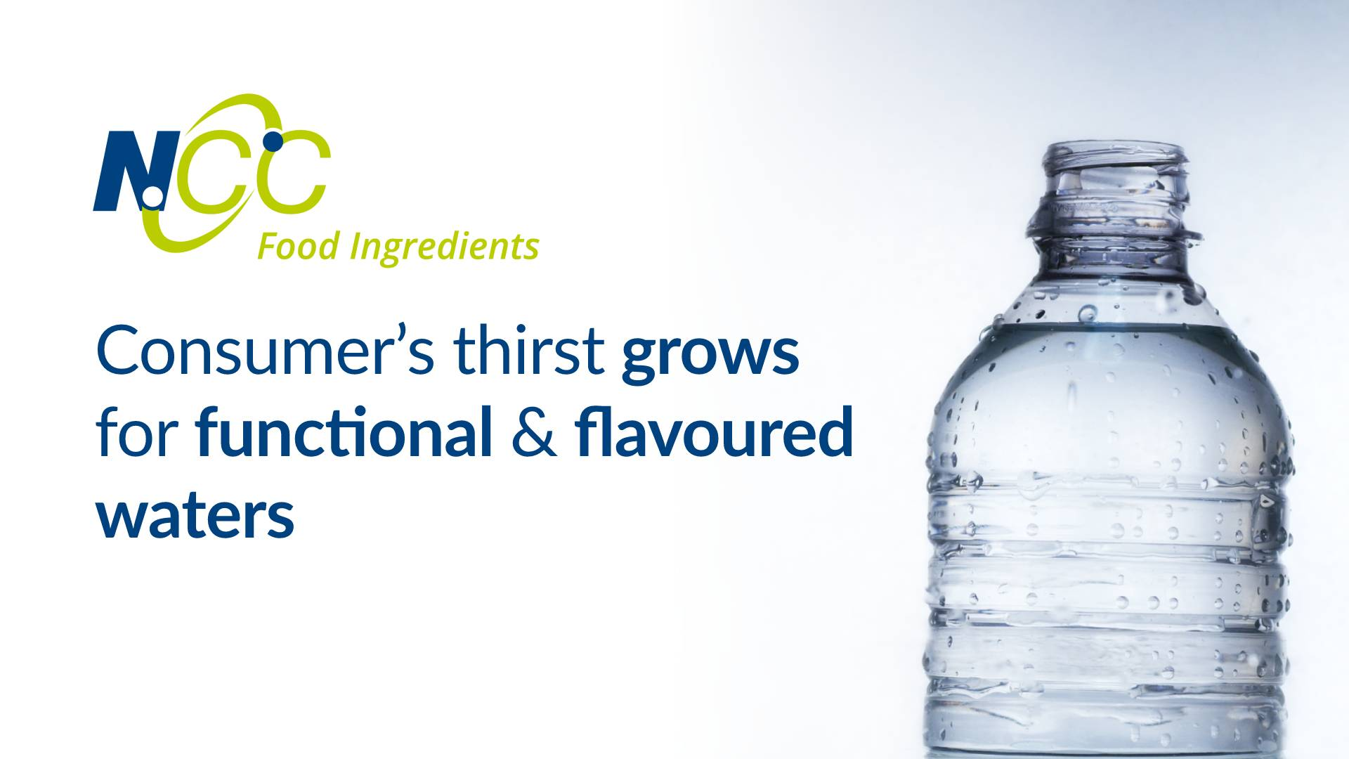 Consumer's thirst grows for functional and flavoured waters