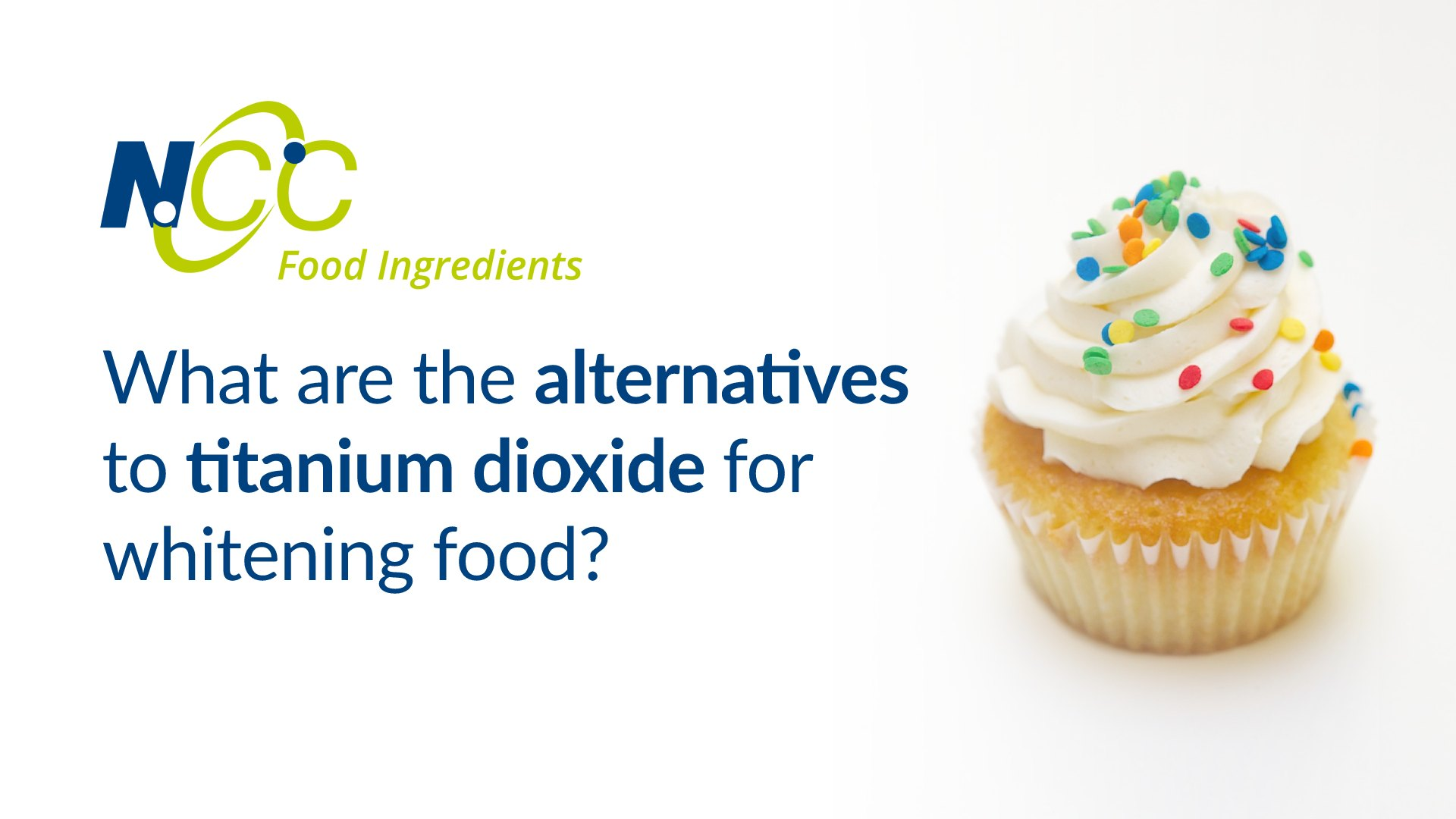 What are the alternatives to titanium dioxide for whitening food?