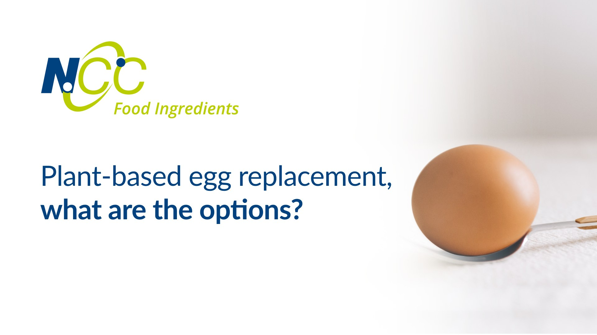 Plant based egg replacement